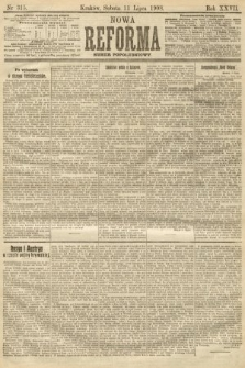 Nowa Reforma (numer popołudniowy). 1908, nr315