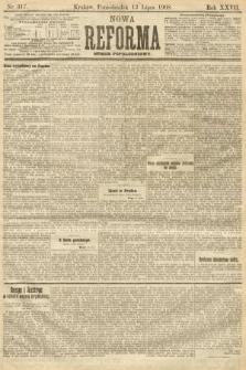 Nowa Reforma (numer popołudniowy). 1908, nr317