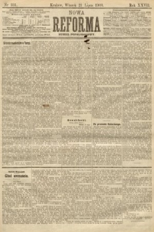 Nowa Reforma (numer popołudniowy). 1908, nr331