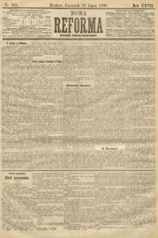 Nowa Reforma (numer popołudniowy). 1908, nr335