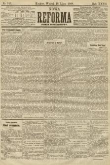 Nowa Reforma (numer popołudniowy). 1908, nr343