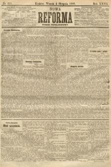 Nowa Reforma (numer popołudniowy). 1908, nr355