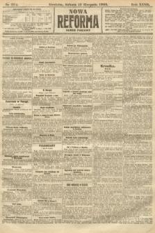 Nowa Reforma (numer poranny). 1908, nr374
