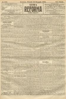 Nowa Reforma (numer poranny). 1908, nr376