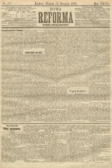 Nowa Reforma (numer popołudniowy). 1908, nr377