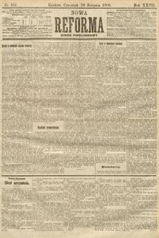 Nowa Reforma (numer popołudniowy). 1908, nr381