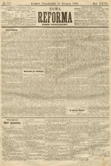 Nowa Reforma (numer popołudniowy). 1908, nr387