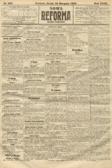 Nowa Reforma (numer poranny). 1908, nr390