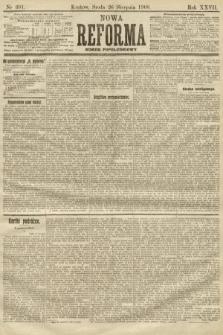 Nowa Reforma (numer popołudniowy). 1908, nr391