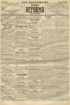 Nowa Reforma (numer poranny). 1908, nr394
