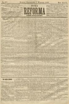 Nowa Reforma (numer popołudniowy). 1908, nr411