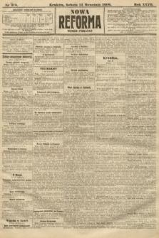 Nowa Reforma (numer poranny). 1908, nr418
