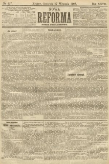 Nowa Reforma (numer popołudniowy). 1908, nr427