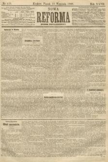 Nowa Reforma (numer popołudniowy). 1908, nr429