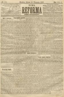 Nowa Reforma (numer popołudniowy). 1908, nr431
