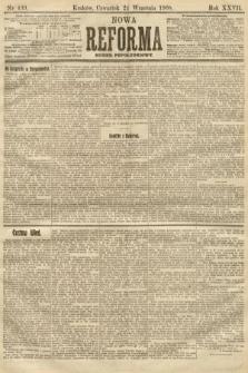Nowa Reforma (numer popołudniowy). 1908, nr439