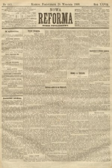 Nowa Reforma (numer popołudniowy). 1908, nr445
