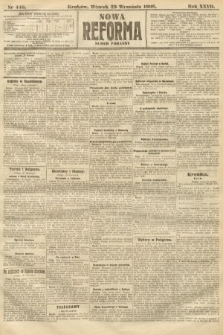 Nowa Reforma (numer poranny). 1908, nr446