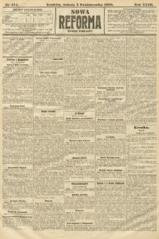 Nowa Reforma (numer poranny). 1908, nr454