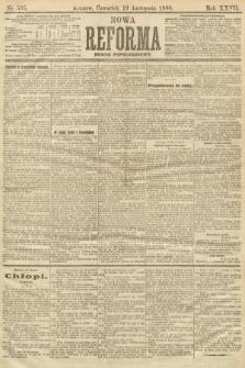 Nowa Reforma (numer popołudniowy). 1908, nr535