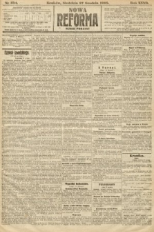 Nowa Reforma (numer poranny). 1908, nr594