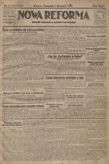 Nowa Reforma. 1925, nr1