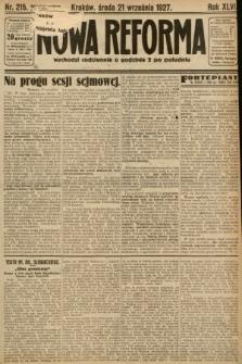 Nowa Reforma. 1927, nr215