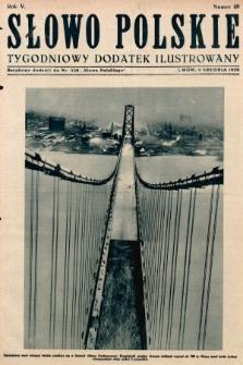 Słowo Polskie : tygodniowy dodatek ilustrowany. 1929, nr49