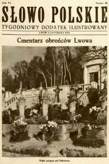 Słowo Polskie : tygodniowy dodatek ilustrowany. 1930, nr44