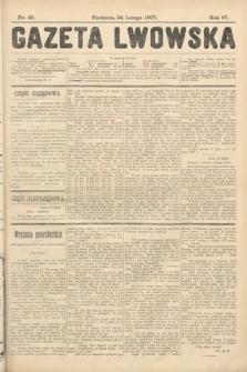 Gazeta Lwowska. 1907, nr45