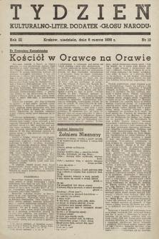 "Tydzień : kulturalno-liter. dodatek ""Głosu Narodu"". 1938, nr10"