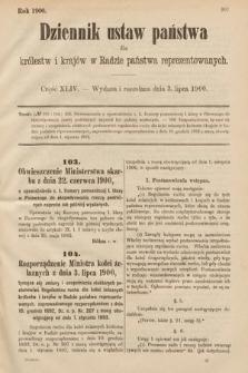 Dziennik Ustaw Państwa dla Królestw i Krajów w Radzie Państwa Reprezentowanych. 1900, cz.44