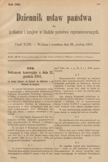 Dziennik Ustaw Państwa dla Królestw i Krajów w Radzie Państwa Reprezentowanych. 1900, cz.93