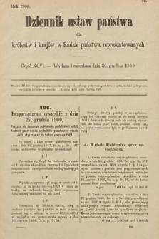 Dziennik Ustaw Państwa dla Królestw i Krajów w Radzie Państwa Reprezentowanych. 1900, cz.96