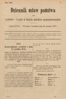Dziennik Ustaw Państwa dla Królestw i Krajów w Radzie Państwa Reprezentowanych. 1900, cz.97