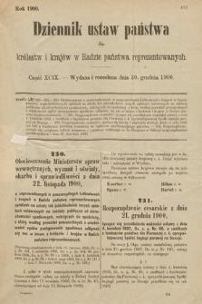Dziennik Ustaw Państwa dla Królestw i Krajów w Radzie Państwa Reprezentowanych. 1900, cz.99