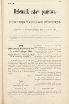 Dziennik Ustaw Państwa dla Królestw i Krajów w Radzie Państwa Reprezentowanych. 1907, cz.91