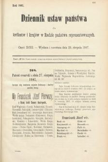 Dziennik Ustaw Państwa dla Królestw i Krajów w Radzie Państwa Reprezentowanych. 1907, cz.93