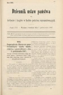 Dziennik Ustaw Państwa dla Królestw i Krajów w Radzie Państwa Reprezentowanych. 1907, cz.107