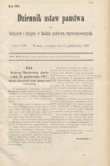Dziennik Ustaw Państwa dla Królestw i Krajów w Radzie Państwa Reprezentowanych. 1907, cz.114