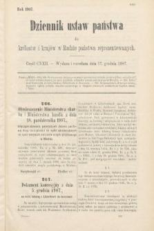 Dziennik Ustaw Państwa dla Królestw i Krajów w Radzie Państwa Reprezentowanych. 1907, cz.122