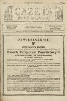 Gazeta Policji Państwowej. 1920, nr18