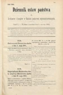 Dziennik Ustaw Państwa dla Królestw i Krajów w Radzie Państwa Reprezentowanych. 1906, cz.50