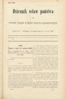 Dziennik Ustaw Państwa dla Królestw i Krajów w Radzie Państwa Reprezentowanych. 1906, cz.56