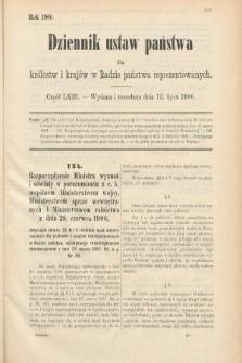 Dziennik Ustaw Państwa dla Królestw i Krajów w Radzie Państwa Reprezentowanych. 1906, cz.63
