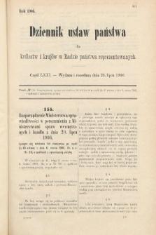 Dziennik Ustaw Państwa dla Królestw i Krajów w Radzie Państwa Reprezentowanych. 1906, cz.71