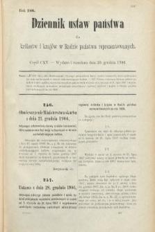 Dziennik Ustaw Państwa dla Królestw i Krajów w Radzie Państwa Reprezentowanych. 1906, cz.115