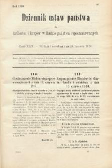 Dziennik Ustaw Państwa dla Królestw i Krajów w Radzie Państwa Reprezentowanych. 1910, cz.44