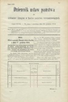 Dziennik Ustaw Państwa dla Królestw i Krajów w Radzie Państwa Reprezentowanych. 1910, cz.99