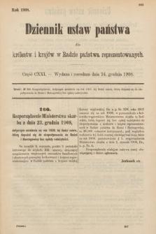 Dziennik Ustaw Państwa dla Królestw i Krajów w Radzie Państwa Reprezentowanych. 1908, cz.121